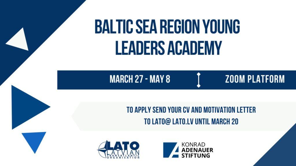 LATO un KAF aicina jauniešus piedalīties Baltijas jūras reģiona jauno līderu akadēmijā!